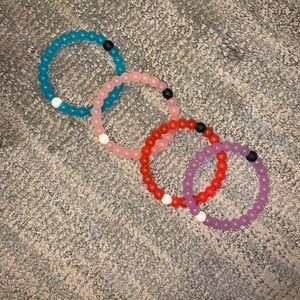 4 authentic loaki bracelets